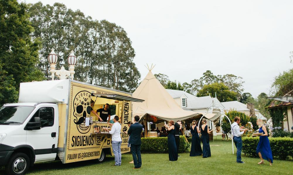 Gold Coast Food Truck Tipi Wedding Marquee Hire