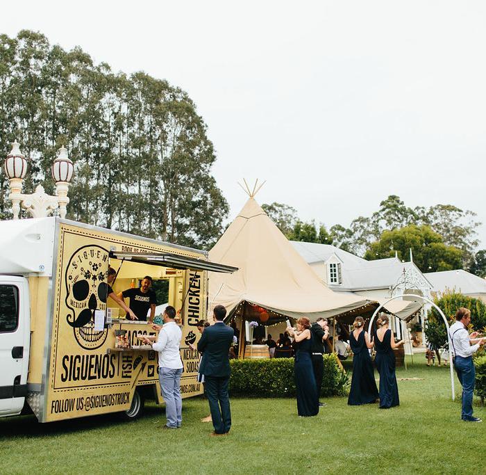 gold coast food truck, tipi wedding, marquee hire