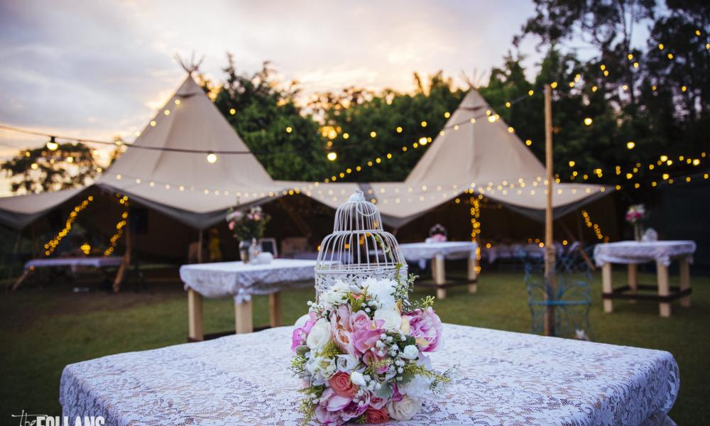 Absolutely stunning tipi wedding with a vintage twist vintage theme wedding tipi marquee hire gold coast junglespirit Images
