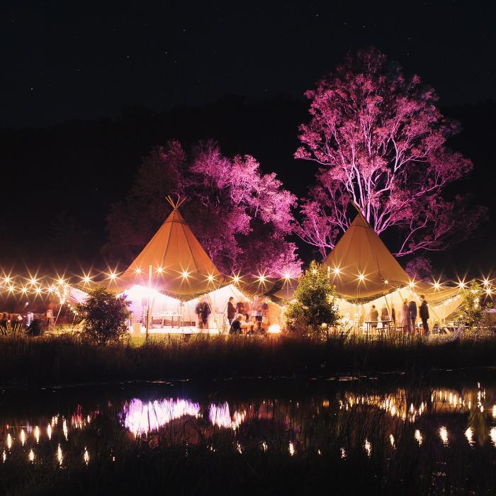 tipi wedding, gold coast, boho wedding, tipis, the farm numinbah