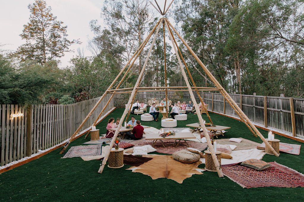 backyard tipi party