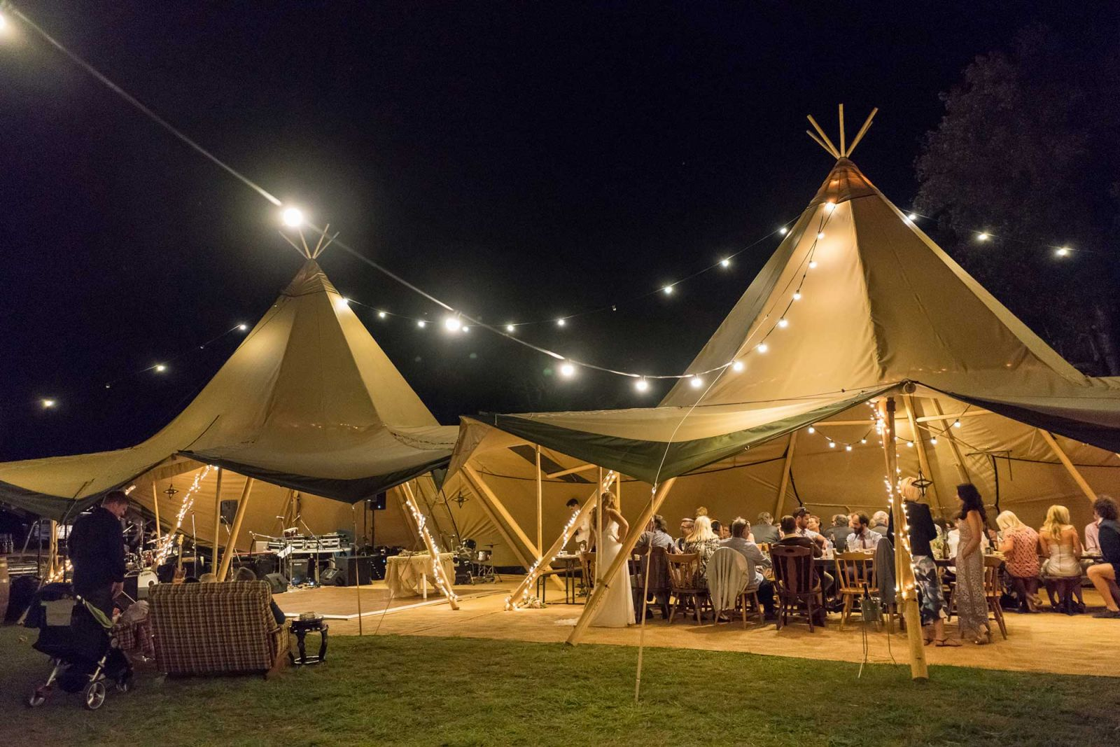tipi wedding gold coast festoon lighting