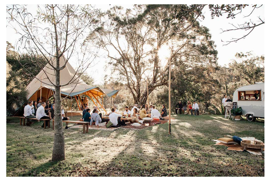 gold coast tipis wedding