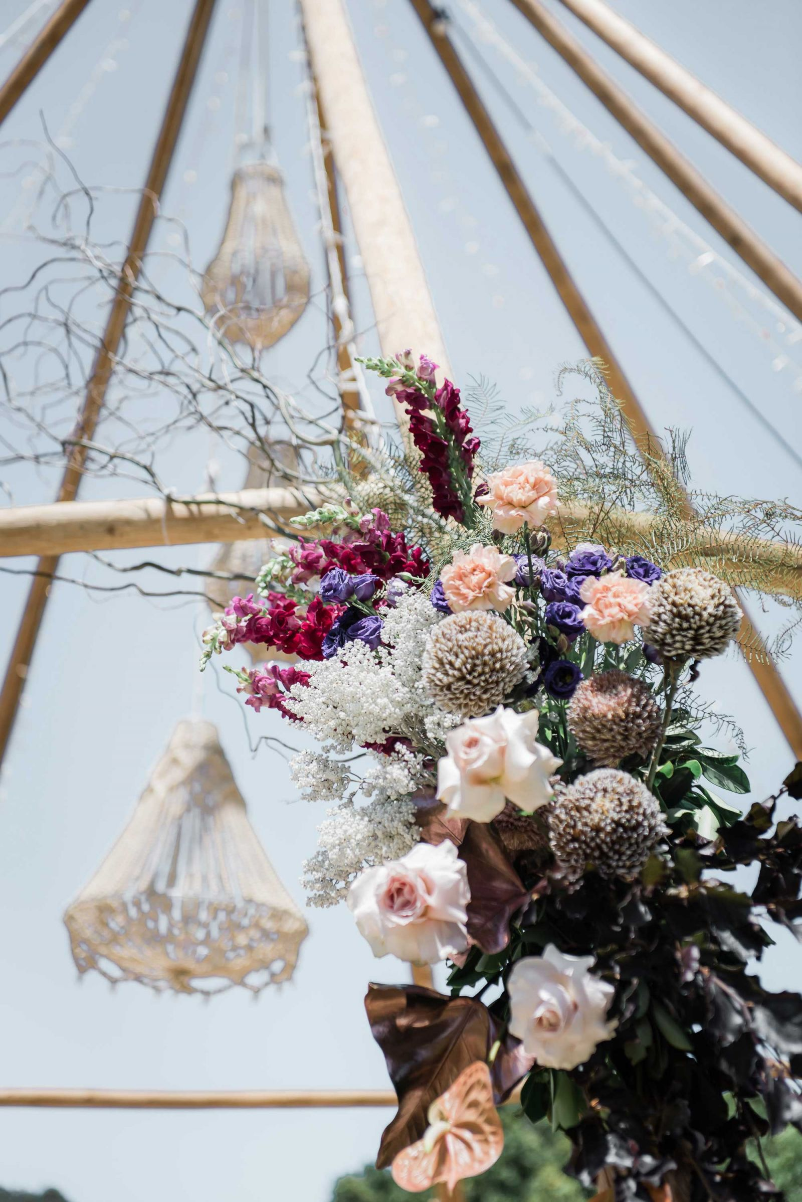 naked tipi with florals