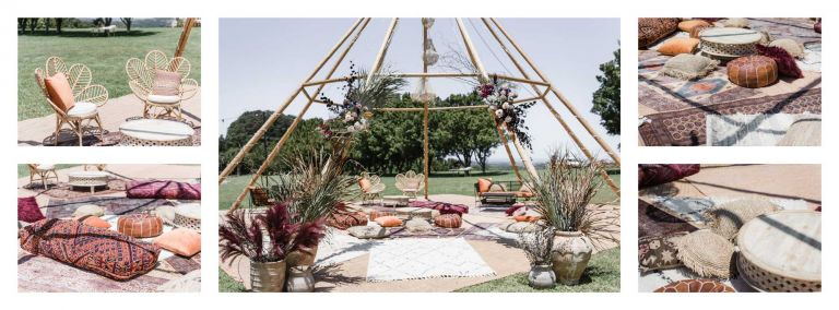 naked tipi furniture hire