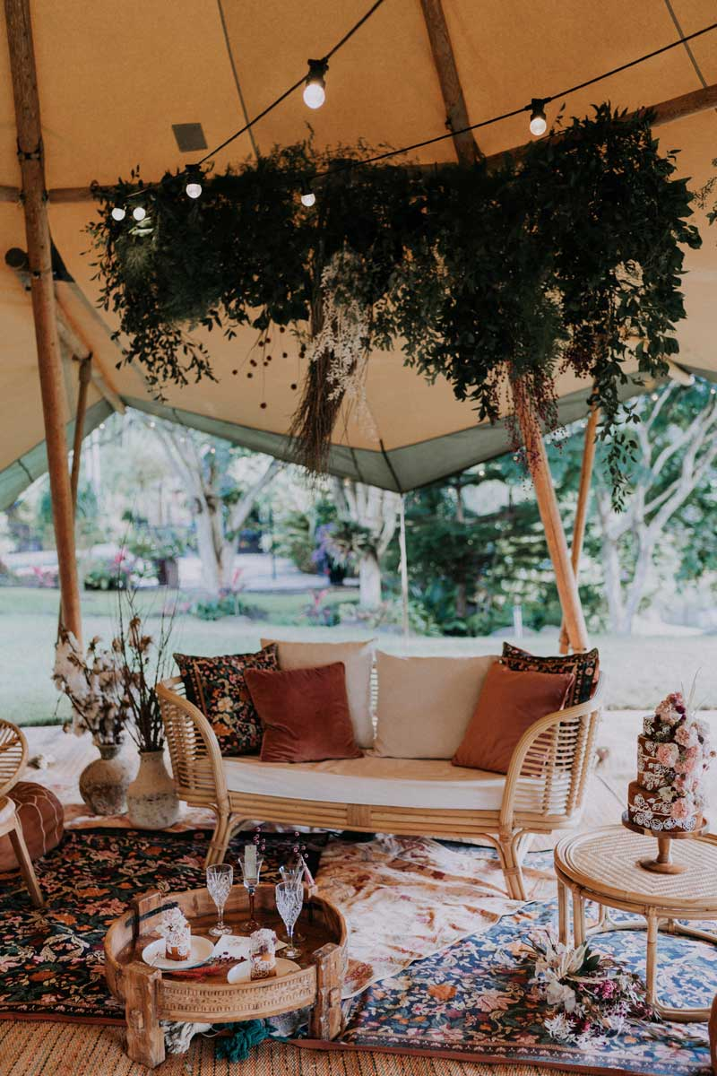gold coast tipi hire riverwood estate